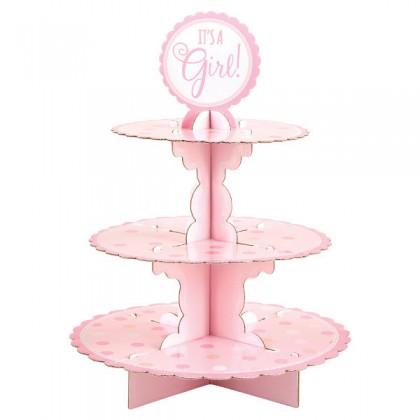 Baby Shower Pink Treat Stand - Cardboard