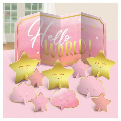 Oh Baby Girl Table Centerpiece Decoration - Paper Board