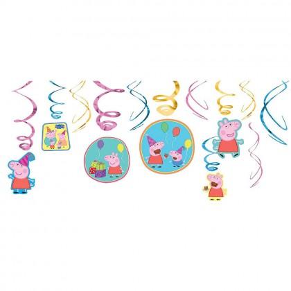 Peppa Pig™ Value Pack Foil Swirl Decorations
