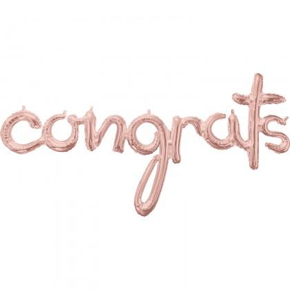 """G50 56"""" (Rose Gold) Script Phrase : Congrats"""
