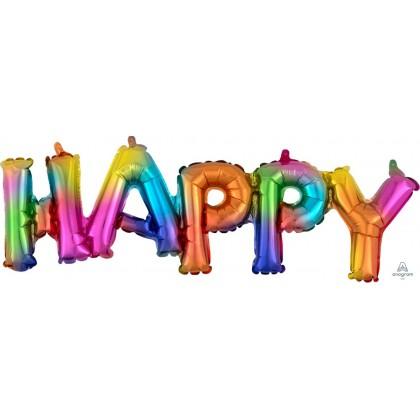 """G20 30"""" (Rainbow) Block Phrase : Happy"""
