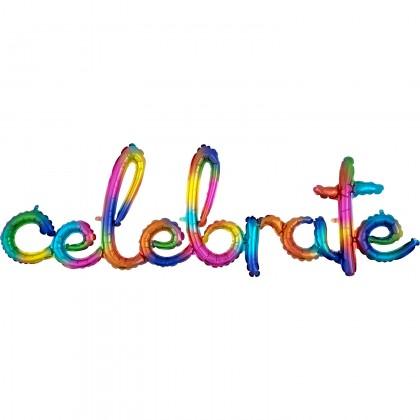 "G50 59"" (Rainbow) Script Phrase : Celebrate"