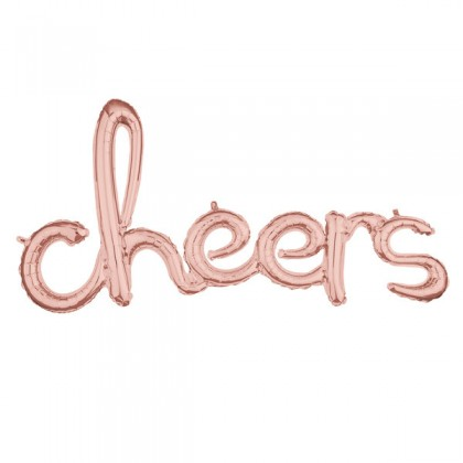 "G40 40"" (Rose Gold) Script Phrase : Cheers"