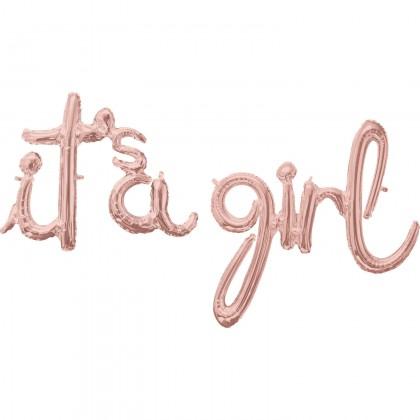 G50 (Rose Gold) Script Phrase : It's A Girl