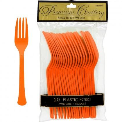 Plastic Fork Orange Peel