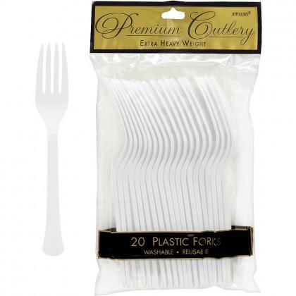 Plastic Fork Frosty White