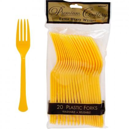 Plastic Fork Yellow Sunshine