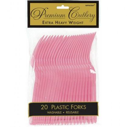 Plastic Fork New Pink