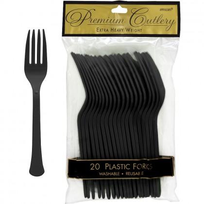 Plastic Fork Jet Black