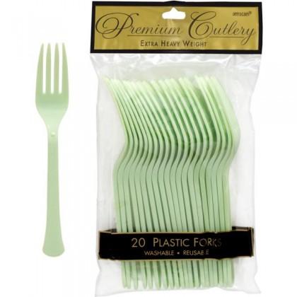 Plastic Fork Leaf Green