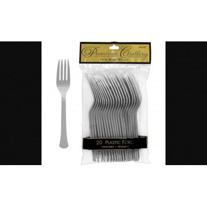 Plastic Fork Silver