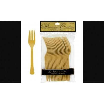 Plastic Fork Gold