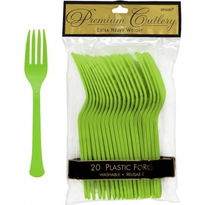 Plastic Fork Kiwi Green
