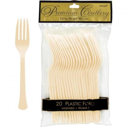 Plastic Fork Vanilla Creme
