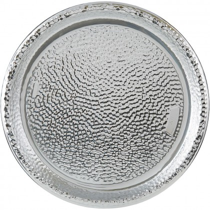 Hammered Tray Plastic Silver