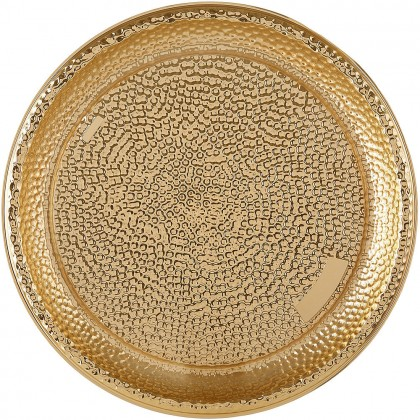 Hammered Tray Plastic Gold