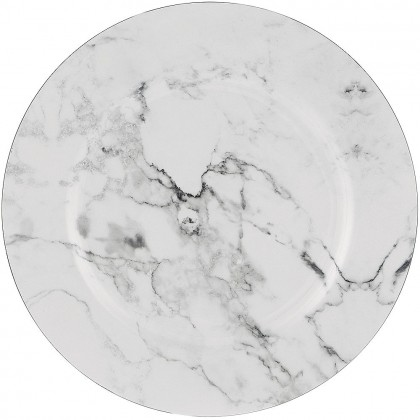 Printed Marble Charger Plastic
