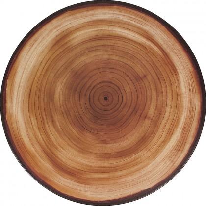 Rustic Round Tray Melamine