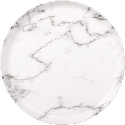Printed Marble Round Tray Melamine