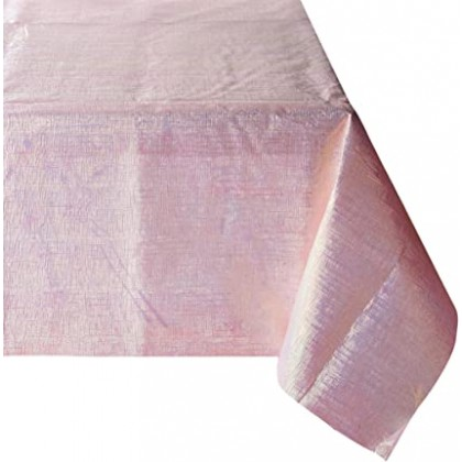 Pretty Pastels Dazzler Table Cover Paper with Iridescent Plastic