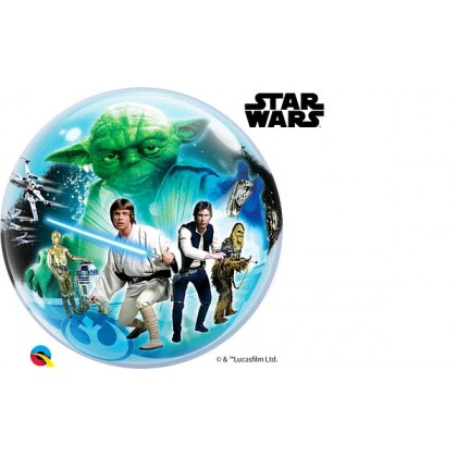 "Q 22"" Disney Star Wars Dark Vader & Storm Trooper Bubble Balloon"