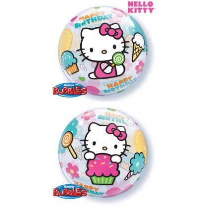 """Q 22"""" Sanrio Hello Kitty Bubble Balloon"""