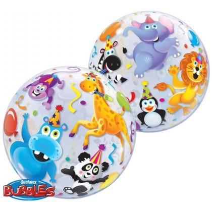 "Q 22"" Jungle Animals Bubble Balloon"