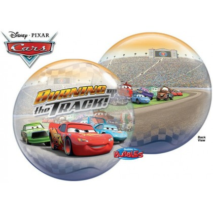 "Q 22"" Disney Cars ""Burning The Track"" Bubble Balloon"
