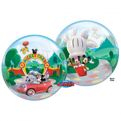 """Q 22"""" Mickey And Friends At Park Bubble Balloon"""