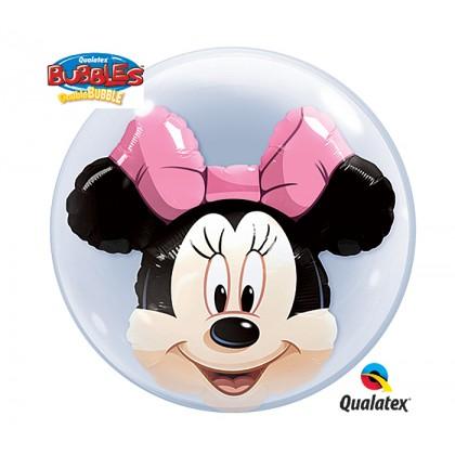 """Q 22"""" Disney Minnie DoubleBubble Balloon"""