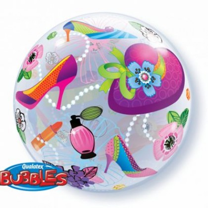 "Q 22"" Lady's Cosmetics & Jewlery Bubble Balloon"