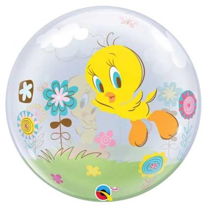"Q 22"" Tweety Bird Bubble Ballloon"