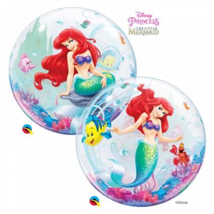 """Q 22"""" Disney Little Mermaid Bubble Balloon"""