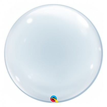 "Q 24"" Clear Round Deco Bubble Balloon"