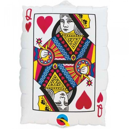 """Q 30"""" Queen Hearts Playing Card"""