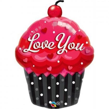 "Q 35"" Love You CupCake"