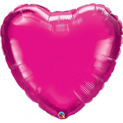 """Q 36"""" Magenta Heart MircroFoil"""