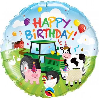 """Q 18"""" Barnyard Happy Birthday"""