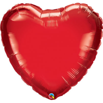 "Q 36"" Ruby Red Heart MicroFoil"