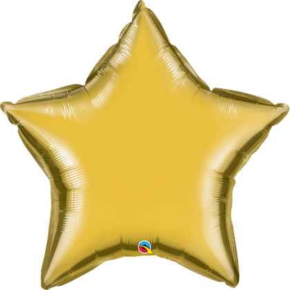 "Q 36"" Metallic Gold Star MircroFoil"