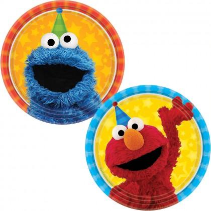 Sesame Street 2 Round Plates 7in