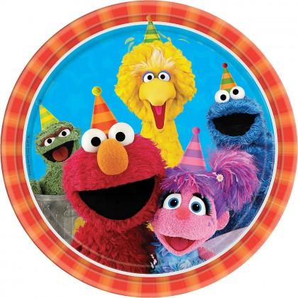 Sesame Street 2 Round Plates 9in