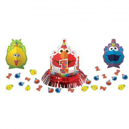 Sesame Street Elmo Turns One Table Decorating Kit