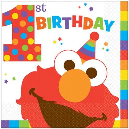 Sesame Street Elmo Turns One Luncheon Napkins