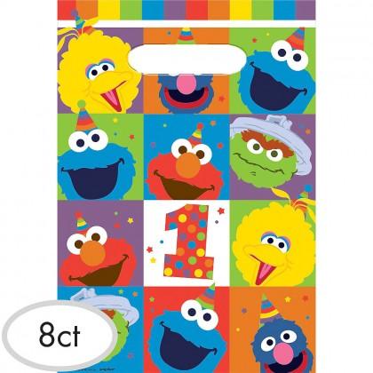 Sesame Street Elmo Turns One Folded Loot Bags - Plastic
