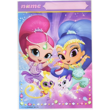 Shimmer and Shine™ Folded Loot Bags - Plastic