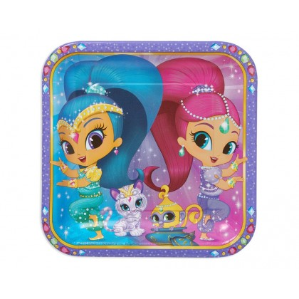 Shimmer & Shine™ Square Plates, 9 in