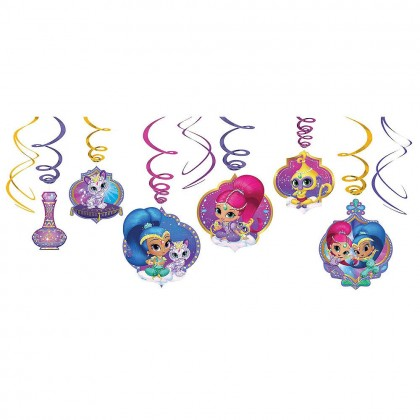 Shimmer and Shine™ Value Pack Foil Swirl Decorations