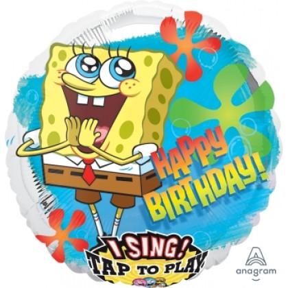 "P75 28"" SpongeBob Birthday Jumbo Sing-A-Tune® XL® Foil Balloon"
