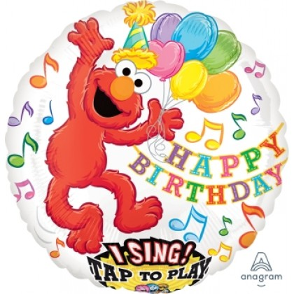 "P75 28"" Elmo Birthday Jumbo Sing-A-Tune® XL® Foil Balloon"